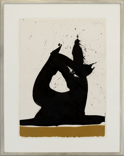 Robert Motherwell, 'Black Image with Ochre ', 1967