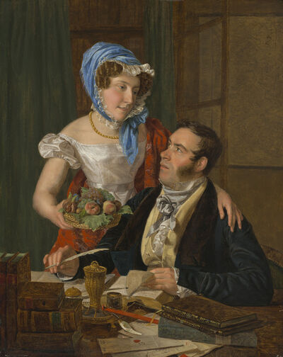 Ferdinand Georg Waldmüller, 'The Cartographer Professor Josef Jüttner and His Wife', 1824