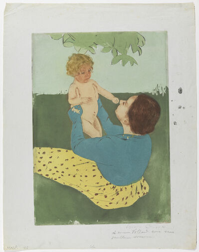 Mary Cassatt, 'Under The Horse-Chestnut Tree', 1896-1897