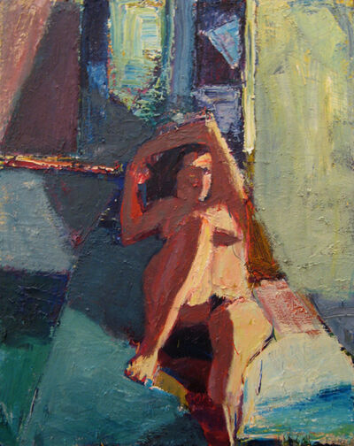 Terry St. John, 'Reclining Nude with Mirror', 2007