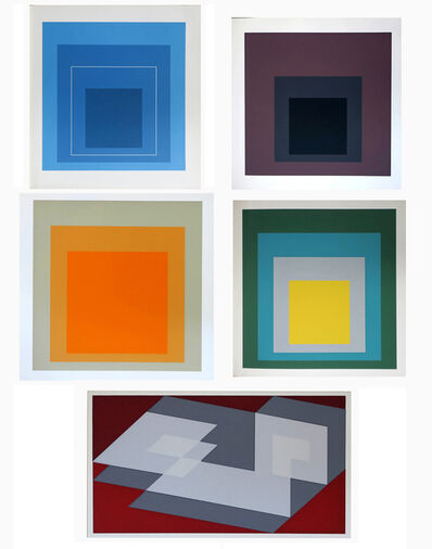 Josef Albers, '24 prints as illustrated in a collection of  5 exhibition catalogues', 1964-1970