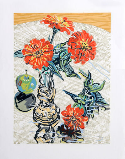 Janet Fish, 'Apples and Zinnias', 1995