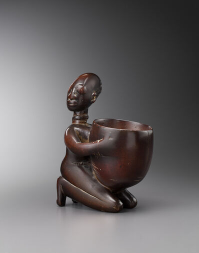 Unknown Yoruba, 'Yoruba divination cupholder, Nigeria'