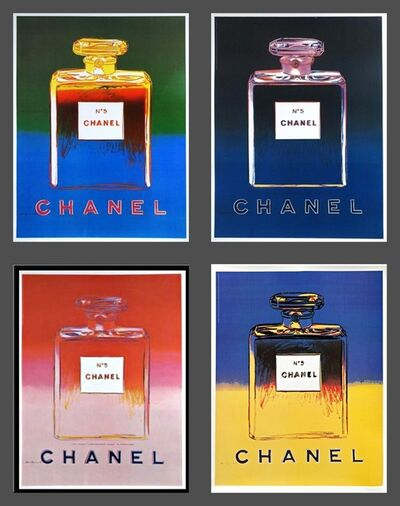 Andy Warhol, 'Chanel No. 5  (Suite of Four (4) Separate  Limited Edition Works on thin linen canvas backing)', 1997