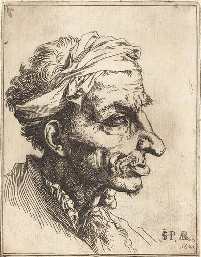 Jusepe de Ribera, 'Small Grotesque Head', 1622