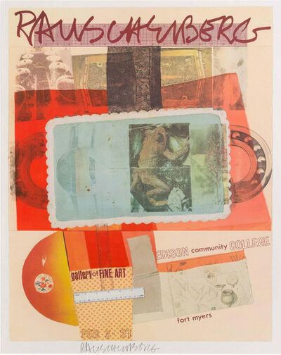 Robert Rauschenberg, 'Exhibition Print | Edison Community Collage Gallery', 1980