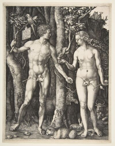 Albrecht Dürer, 'Adam and Eve', 1504