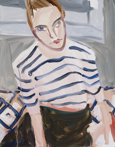 Chantal Joffe, 'Moll in Stripes', 2017