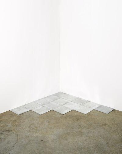 Carl Andre, '15 Ace Zinc Corner', 2007
