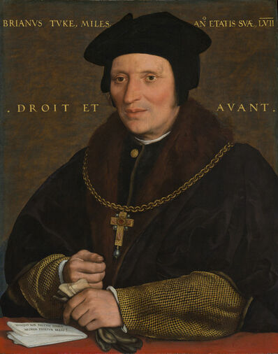 Hans Holbein the Younger, 'Sir Brian Tuke', ca. 1527/1528 or ca. 1532/1534