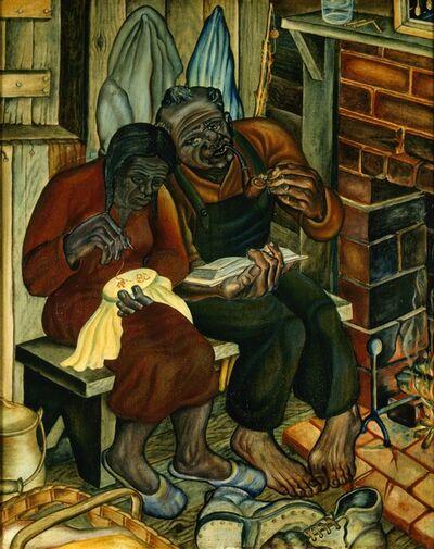 John Thomas Biggers, 'Old Couple (aka Home Sweet Home)', 1944