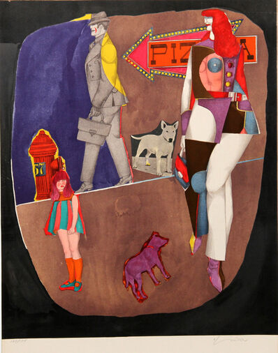 Richard Lindner, 'First Ave (Pizza)', 1969
