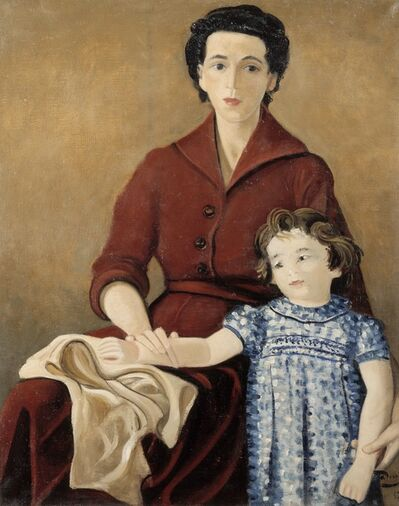 André Derain, 'Denise and Claire Levy', 1949