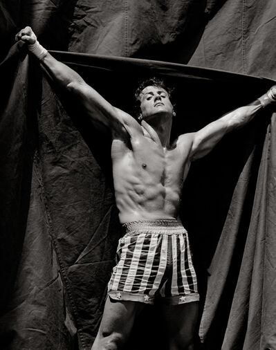 Herb Ritts, 'Sylvester Stallone (Rocky Shorts), Hollywood', 1986