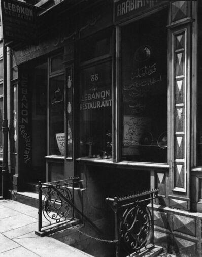 Berenice Abbott, 'Lebanon Restaurant (Syrian), 88 Washington Street, Manhattan', ca. 1930