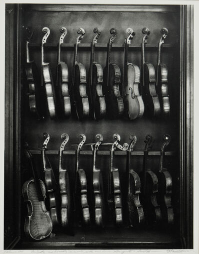 Arnold Newman, 'Violins, Philadelphia'