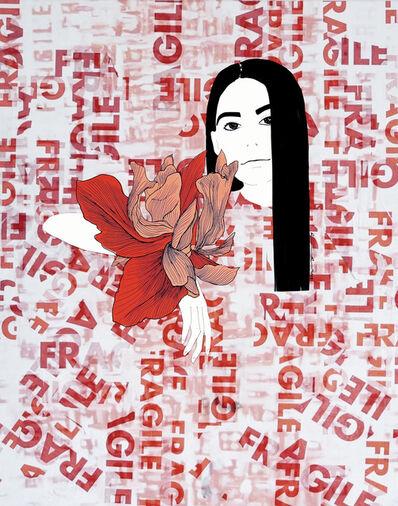 Ramona Russu, 'The girl with black hair/ Fragile 3', 2019