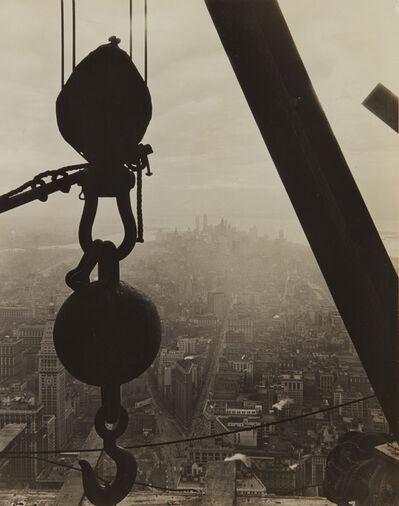 Lewis Wickes Hine, 'The view onto Lower Manhattan from the Empire State Building', 1930