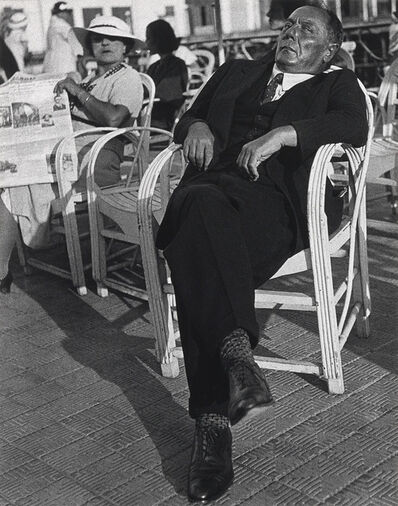 Lisette Model, 'Famous Gambler, Monte Carlo', 1937