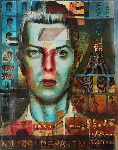 Charlotta Janssen, 'David Bowie (Collaged Print #2)', 2018