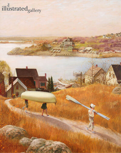 John Clymer, 'Children with Rowboat, Saturday Evening Post Cover', 1953