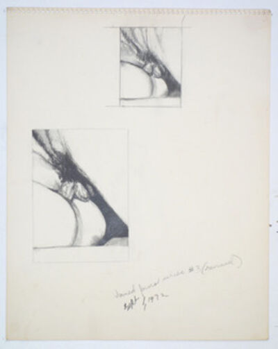 Betty Tompkins, 'Fuck Drawing #3 (revised)', 1972