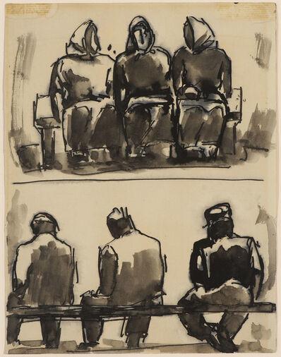 Josef Herman RA, 'Figure Studies', N.D.