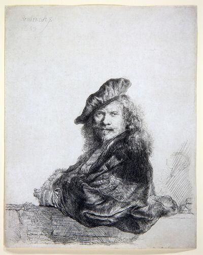 Rembrandt van Rijn, 'Self-portrait leaning on a stone sill ', 1639