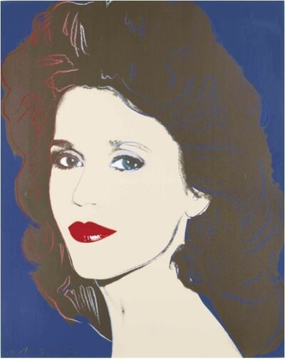 Andy Warhol, 'Jane Fonda (double signed) II.268', 1986