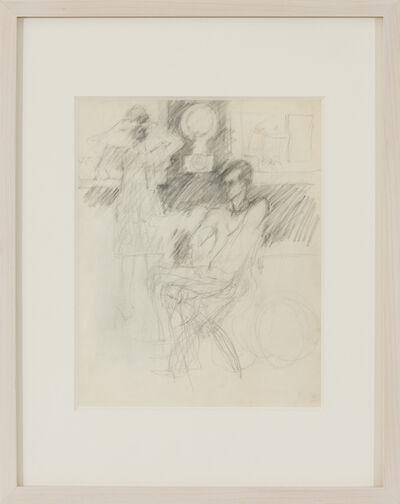 Elaine de Kooning, 'Frank O'Hara in George Segal's Studio, Woman Looking in a Mirror', c. 1970