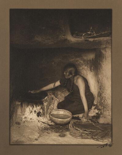 Edward Sheriff Curtis, 'The Piki Maker ', ca. 1920