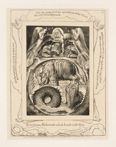 William Blake, 'Behemoth and Leviathan', 1825