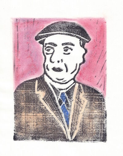Afsoon, 'Pablo Neruda from the Poets in Heaven series', 2014-15
