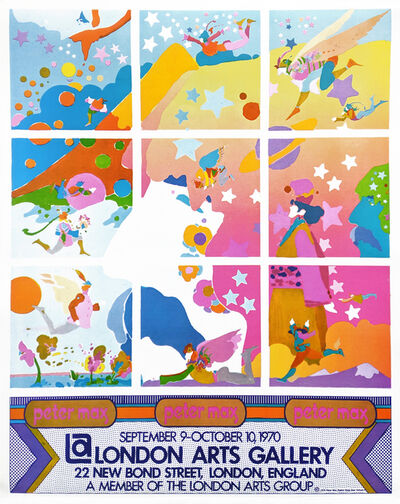 Peter Max, 'LONDON ARTS GALLERY POSTER', 1970