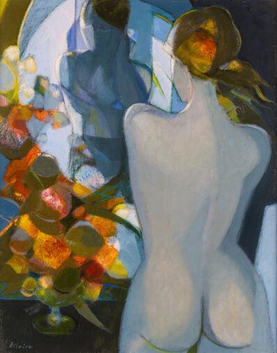Camille Hilaire, 'Femme au Miroir et au Bouquet'