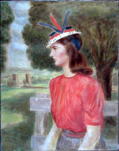John Steuart Curry, 'Woman in Red Blouse ( Portrait of Ellen)', 1935