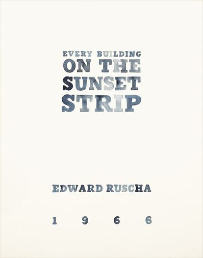 Amy Park, 'Every Building on the Sunset Strip Print  Book Cover of Ed Ruscha book', 2018
