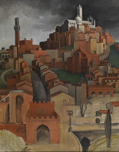 Sture Lundberg, 'View of Siena from the Porta Ovile', ca. 1922