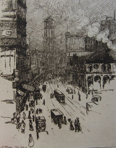 Jean-Emile Laboureur, 'Broadway, New York', 1907