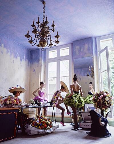 Arthur Elgort, 'Romance: Christian Lacroix Haute Couture Atelier, House and GardenMagazine', 1988
