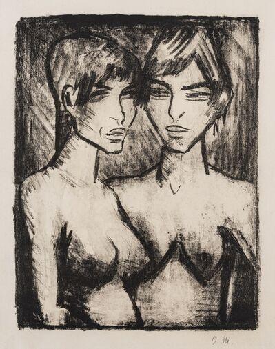 Otto Müller, 'Zwei Mädchen – Halbakte (Karsch 121.B)', 1920
