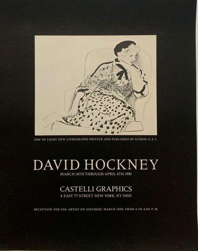 David Hockney, 'David Hockney at Castelli Graphics', 1981