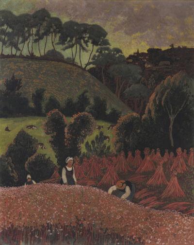 Paul Sérusier, 'La Moisson du sarrasin, vue sur Châteauneuf-du-Faou', 1900