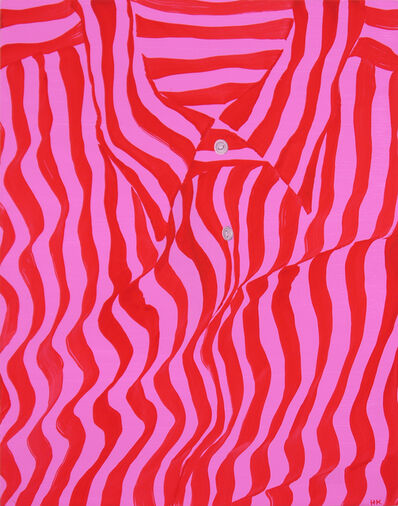 Hannah Knox, 'Candy Pink and Red Striped Shirt', 2021