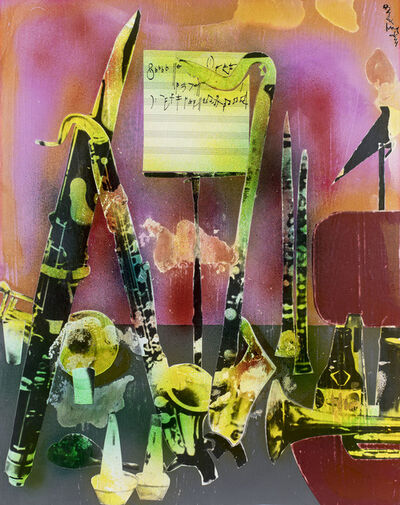 Romare Bearden, 'Of the Blues: Intermission Still-Life, Instruments of Dixieland', 1974
