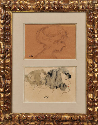 Louis Valtat, 'Two Works on Paper Depicting Women in Profile'