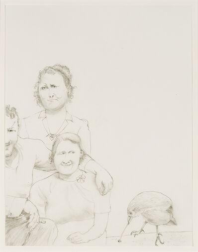 Honoré Sharrer, 'Untitled (Couple, Woman, Bird)', 2004-2005