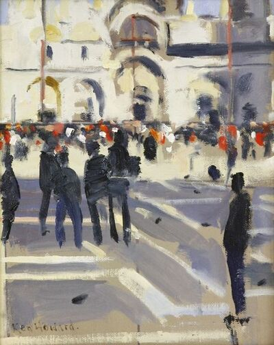 Ken Howard, 'FIGURES IN ST MARK'S SQUARE, VENICE'