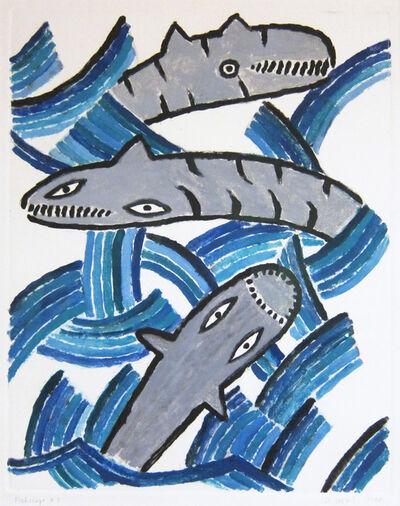 Judy Kensley McKie, 'Fishscape #3', 1988