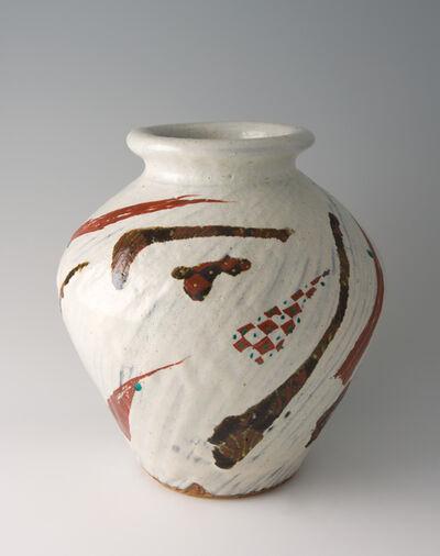 Tomoo Hamada, 'Vase, white glaze with akae decoration', 2010